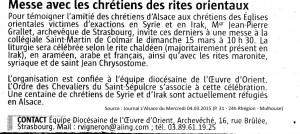 Prions pour nos frères et sœurs chrétiens martyrisés en Syrie et en Irak